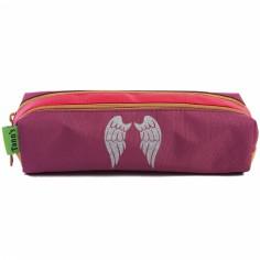 Trousse double Tann's avec motif personnalisable rose et violet