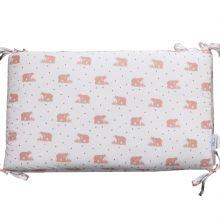 Tour de lit adaptable Mishka blush (pour lits 60 x 120 cm et 70 x 140 cm)  par Blossom Paris