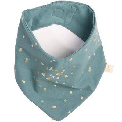 Bavoir bandana Lucky Gold Confetti vert  par Nobodinoz