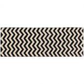 Tapis lavable zigzag noir et blanc (80 x 230 cm) - Lorena Canals