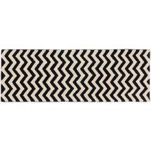 Tapis lavable zigzag noir et blanc (80 x 230 cm)  par Lorena Canals