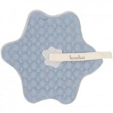 Doudou attache sucette bleu clair Oslo  par Koeka