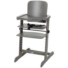 Chaise haute évolutive Family bois gris