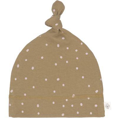 Bonnet en coton bio Cozy Colors pointillés curry (7-12 mois)  par Lässig