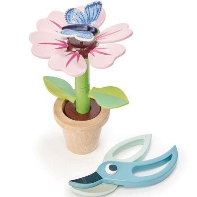 Set pot de fleur en bois