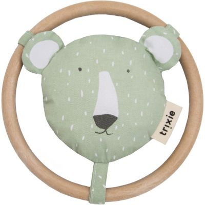 Hochet anneau ours Mr. Polar Bear  par Trixie