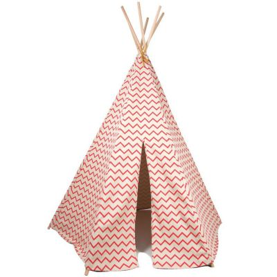 tente tipi arizona zigzag rose nobodinoz berceau magique. Black Bedroom Furniture Sets. Home Design Ideas