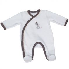 Pyjama chaud girafe Kenza (1 mois)
