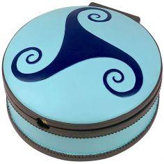 Boîte à bijoux musicale ronde Ballerine bleue