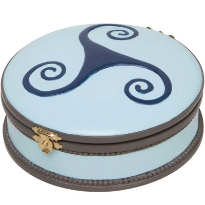 Boîte à bijoux musicale ronde Ballerine bleue  par Trousselier