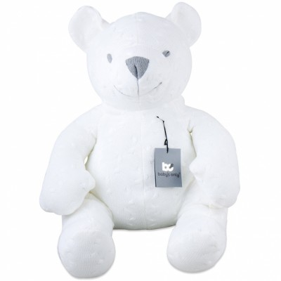 Peluche ourson Cable Uni blanc (55 cm) Baby's Only