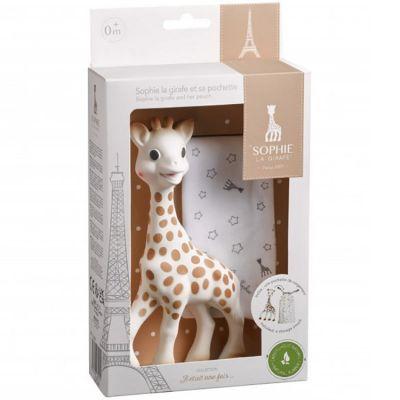 Jouet de dentition Sophie la girafe avec pochette  par Sophie la girafe
