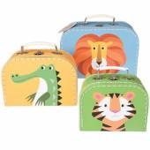 Set de 3 valisettes décoratives Créatures colorées - REX