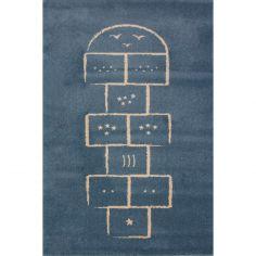 Tapis Marelle bleu (135 x 190 cm)