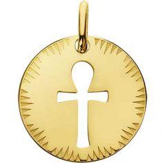 Médaille ajourée Croix de Vie (or jaune 750°)