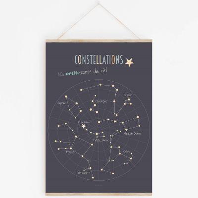 Affiche A3 Constellations avec support  par Lutin Petit Pois