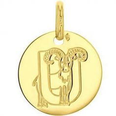 Médaille U comme urial personnalisable (or jaune 750°)