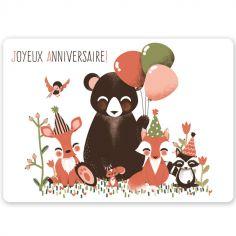 Carte anniversaire A6 Les Animignons de la forêt