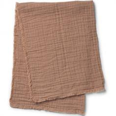 Couverture en coton froissé Faded Rose (70 x 100 cm)