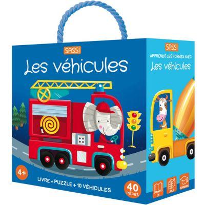 Livre et puzzle Les véhicules (40 pièces) Sassi Junior