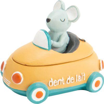 Boîte à dents voiture jaune  par Amadeus Les Petits