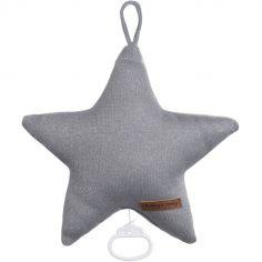 Peluche musicale Sparkle étoile gris (30 cm)
