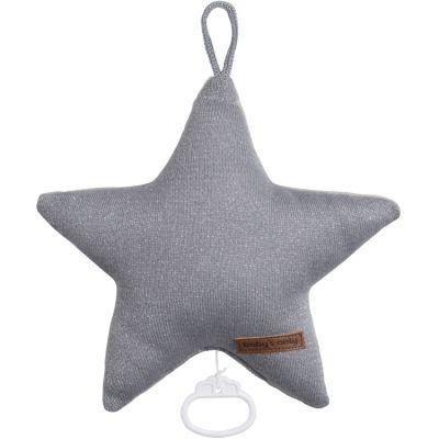 Peluche musicale Sparkle étoile gris (30 cm) Baby's Only