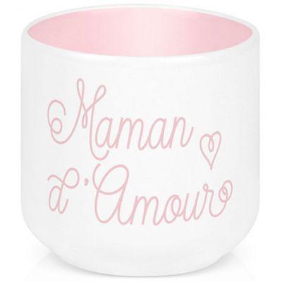 Coquetier en porcelaine Maman d'amour  par Créa Bisontine
