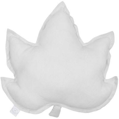 Coussin feuille d'érable gris (43 cm)  par Cotton&Sweets