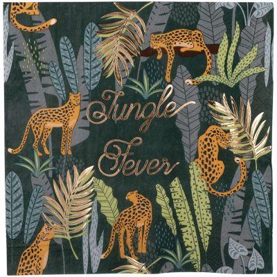 Lot de 16 serviettes en papier Jungle Fever  par Arty Fêtes Factory