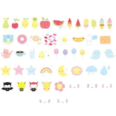 Assortiment de motifs pour lightbox Kawaii  par A Little Lovely Company