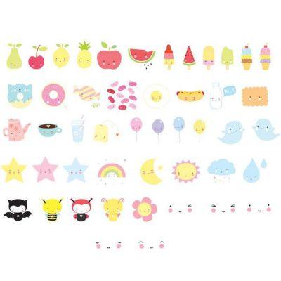 Assortiment de motifs pour lightbox Kawaii