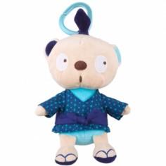 Peluche attache sucette garçon ours Kimono