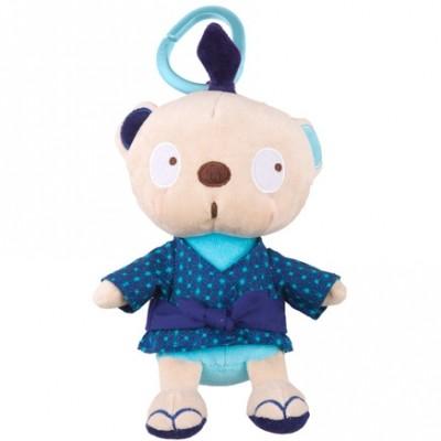 Peluche attache sucette garçon ours Kimono Tuc Tuc