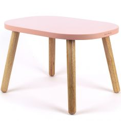 Petite table Ovaline rose
