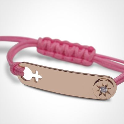 Bracelet I am a Star Fille (or rose 750°)  par Mikado