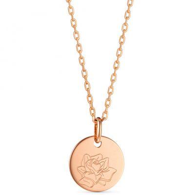 Petit collier Fleur de naissance personnalisable (plaqué or)  par Merci Maman