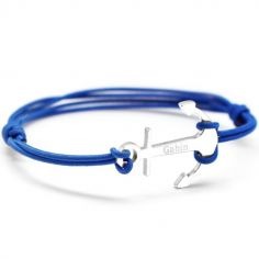 Bracelet cordon papa L'ancre personnalisable (argent 925°)