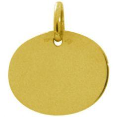 Pendentif ovale uni (or jaune 750°)