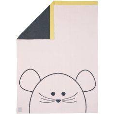 Couverture bébé en coton bio Little Chums souris (75 x 100 cm)
