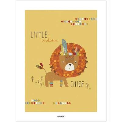 Affiche Indians the little chief (30 x 40 cm)  par Lilipinso
