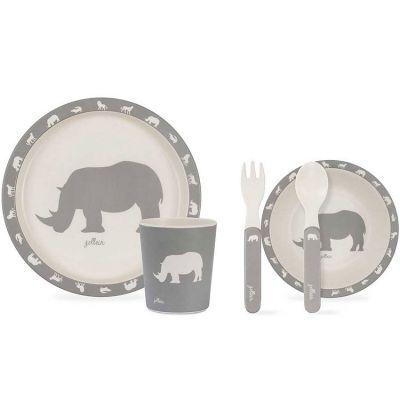 Coffret repas Safari gris (5 pièces)  par Jollein