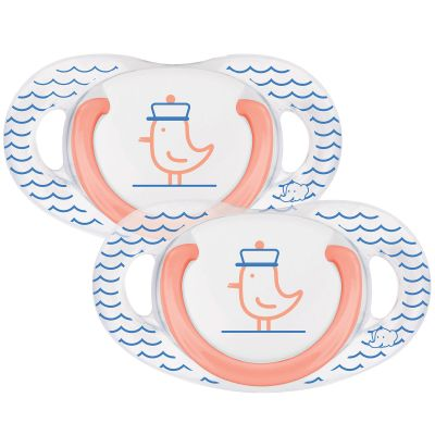 Lot de 2 sucettes physiologiques en latex Navy (0-6 mois)  par Bébé Confort