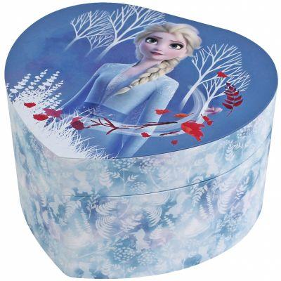 Boîte à bijoux musicale coeur Elsa La Reine des Neiges  par Trousselier