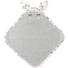 Doudou plat gris Lamamour