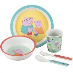Coffret repas en mélamine Peppa Pig (5 pièces)
