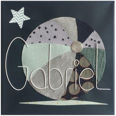 Tableau ballon personnalisable (20 x 20 cm) Marie-Laure Créations