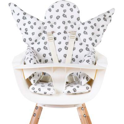 Coussin de chaise haute Ange Jersey léopard  par Childhome