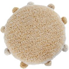 Coussin rond Bubbly miel