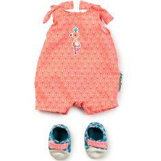 Pyjama + chaussons pour poupon Anaïs (36 cm)